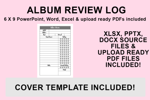 Print on Demand: KDP Interior - Album Review Log Graphic KDP Interiors By Bowes Publishing