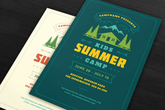 Download Free Kids Summer Camp Poster Or Flyer Graphic By Vasyako1984 SVG Cut Files