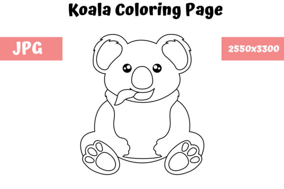 Print on Demand: Koala - Coloring Page for Kids Graphic Coloring Pages & Books Kids By MyBeautifulFiles