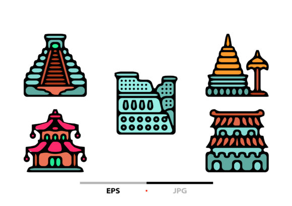 Landmark Abstract Graphic Icons By sayangnadyapkm3