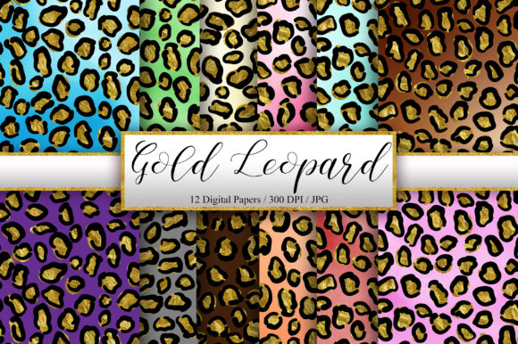 Leopard Gold Glitter Background Graphic Backgrounds By PinkPearly - Image 1