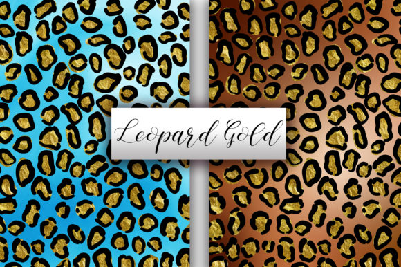 Leopard Gold Glitter Background Graphic Backgrounds By PinkPearly - Image 2