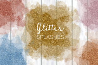 Print on Demand: Luxury Glamorous Glitter Glitz Splashes Graphic Backgrounds By Prawny