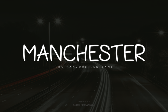 Print on Demand: Manchester Script & Handwritten Font By AndriyFM