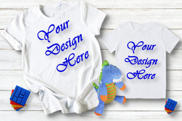 Matching Family Mockup , Mommy and Boy Graphic Product Mockups By Mockup Shop