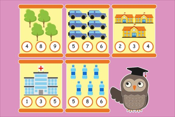 Print on Demand: Math for Kids Pre-Kindergarten 1 Graphic Teaching Materials By studioisamu