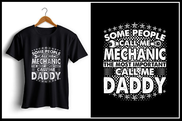 Download Free Mechanic Daddy T Shirt Design Graphic By Zaibbb Creative Fabrica for Cricut Explore, Silhouette and other cutting machines.
