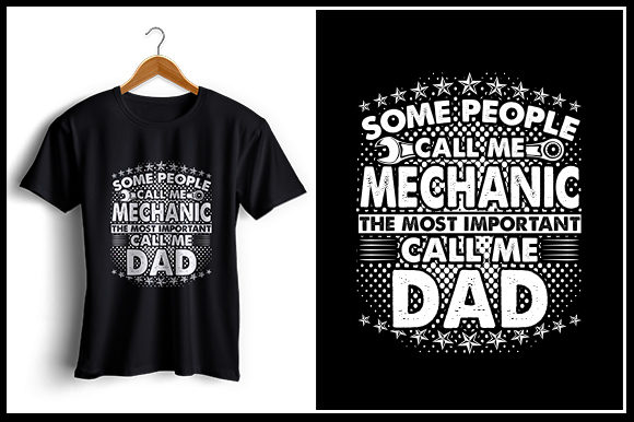 Download Free Mechanic Dad T Shirt Design Graphic By Zaibbb Creative Fabrica for Cricut Explore, Silhouette and other cutting machines.