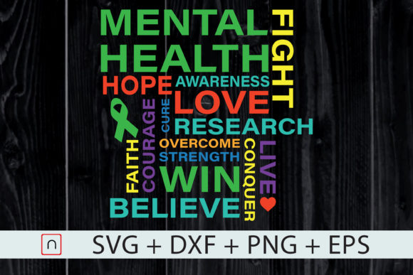Download Free Mental Health Awareness Month Shirt Graphic By Novalia SVG Cut Files