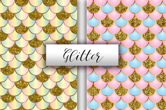 Mermaid Scales Glitter Background Graphic Backgrounds By PinkPearly - Image 2