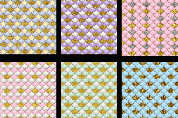Mermaid Scales Glitter Background Graphic Backgrounds By PinkPearly - Image 4