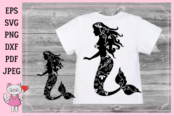 Print on Demand: Mermaid Silhouette Graphic Illustrations By  Magic world of design