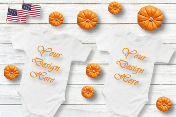 Mockups Baby Bodysuits Twins Flat Lay Graphic Product Mockups By Mockup Shop
