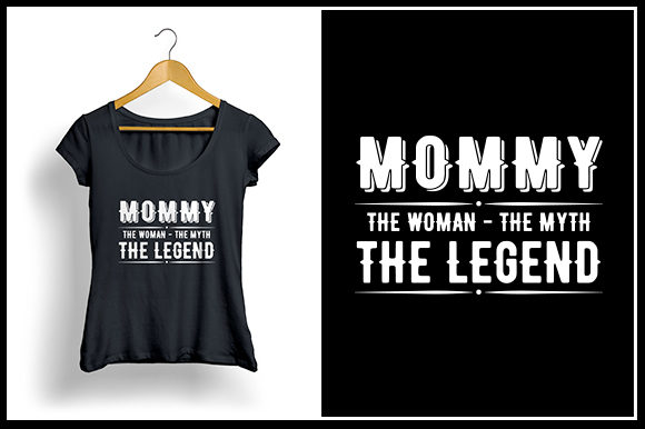 Download Free Mommy T Shirt Design Graphic By Zaibbb Creative Fabrica for Cricut Explore, Silhouette and other cutting machines.