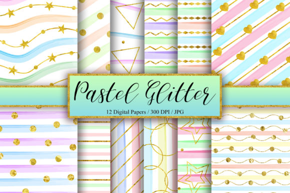 Pastel Gold Glitter Background Graphic Backgrounds By PinkPearly