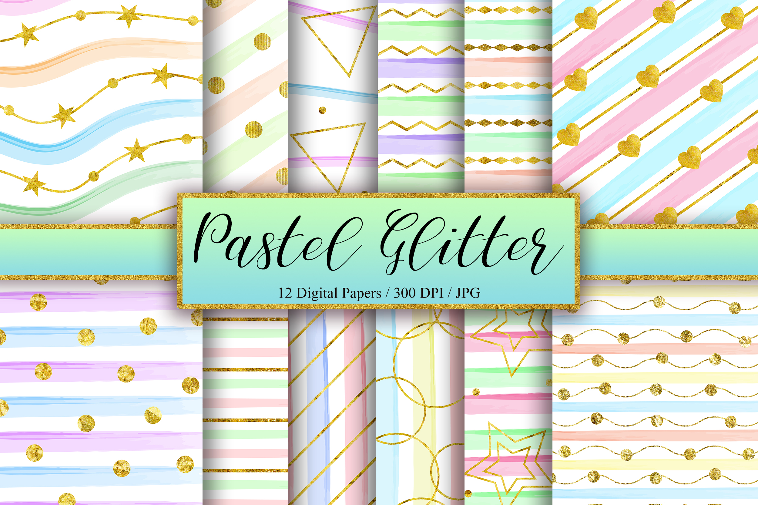 Download Free Pastel Gold Glitter Background Graphic By Pinkpearly Creative for Cricut Explore, Silhouette and other cutting machines.
