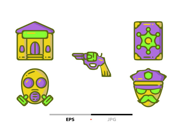 Police Department Elements Abstract Graphic Icons By sayangnadyapkm3