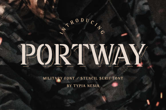 Download Free Portway Font By Typia Nesia Creative Fabrica for Cricut Explore, Silhouette and other cutting machines.