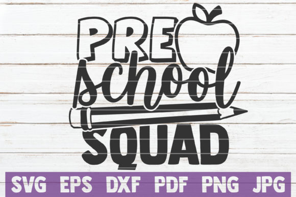 Download Free Preschool Squad Graphic By Mintymarshmallows Creative Fabrica for Cricut Explore, Silhouette and other cutting machines.