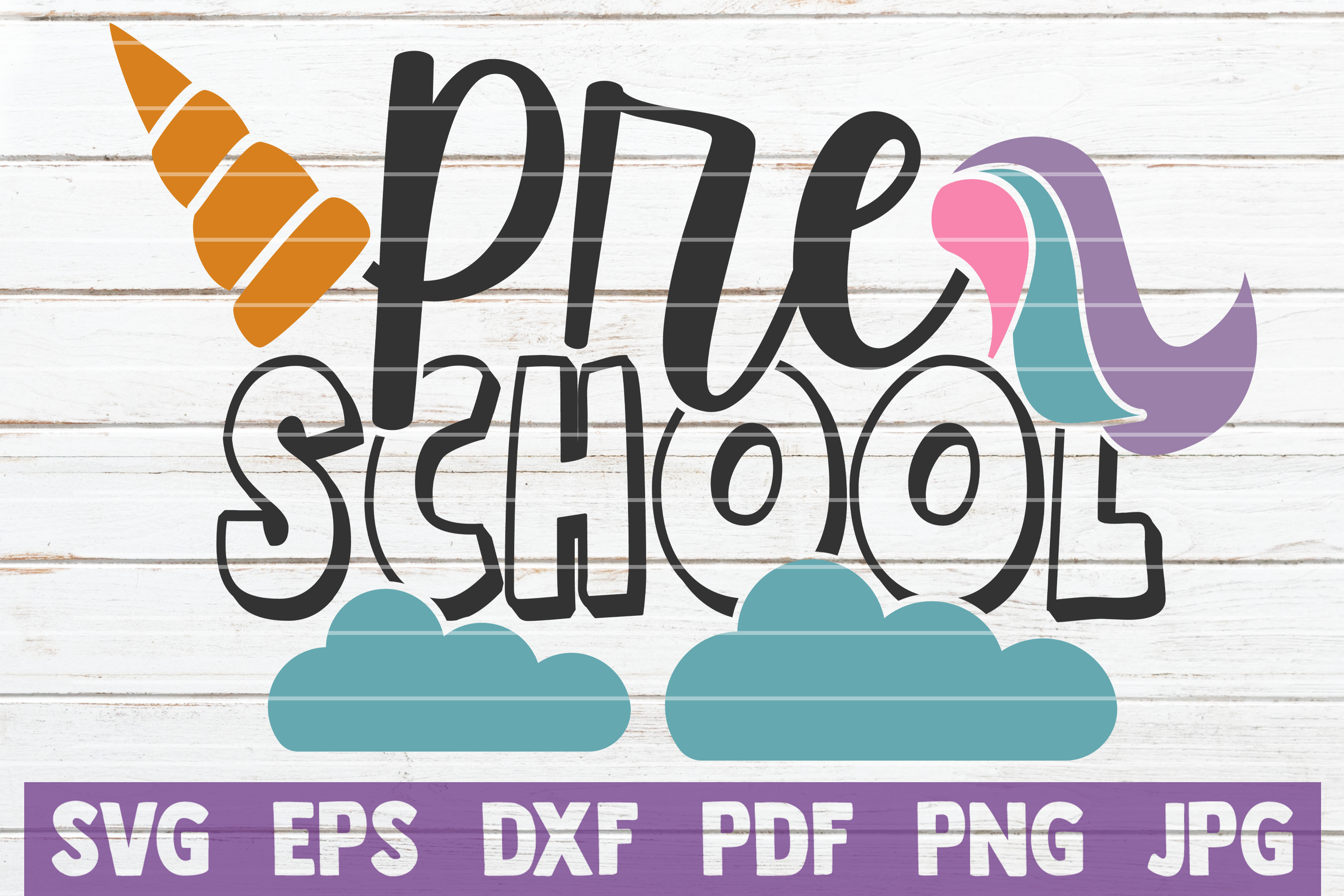 Download Free Preschool Unicorn Graphic By Mintymarshmallows Creative Fabrica for Cricut Explore, Silhouette and other cutting machines.