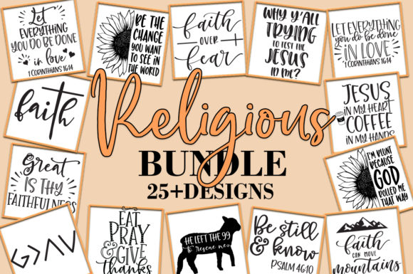 Print on Demand: Religious Christian Bundle   Graphic Crafts By freelingdesignhouse - Image 2