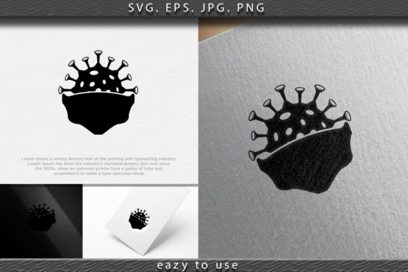 Download Free Safety Breathing Masks Corona Virus Graphic By Ojosujono96 for Cricut Explore, Silhouette and other cutting machines.