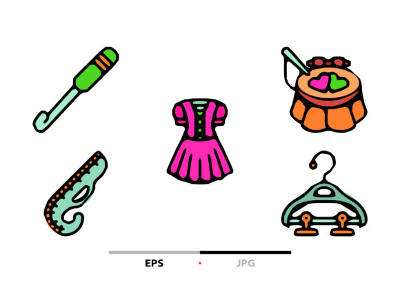 Sewing Equipment Abstract Graphic Icons By sayangnadyapkm3