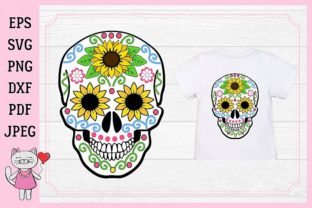 Download Free Sugar Skull Graphic By Magic World Of Design Creative Fabrica for Cricut Explore, Silhouette and other cutting machines.