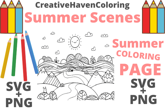 Print on Demand: Summer Coloring Page #11 Graphic Coloring Pages & Books Adults By creativehavencoloring