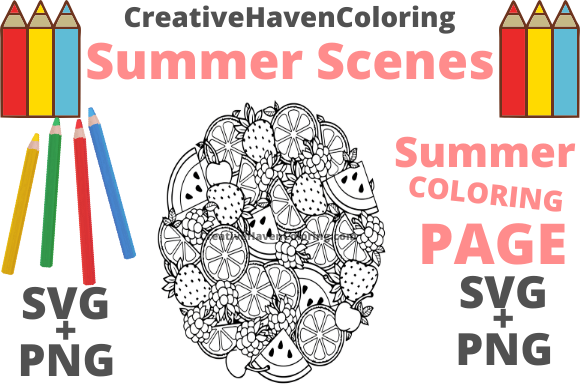 Print on Demand: Summer Coloring Page #12 Graphic Coloring Pages & Books Adults By creativehavencoloring