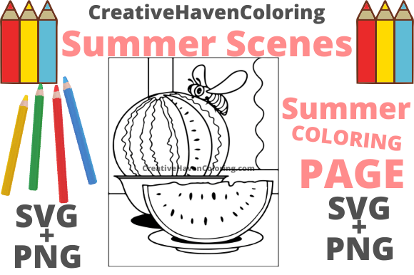 Print on Demand: Summer Coloring Page #15 Graphic Coloring Pages & Books Adults By creativehavencoloring