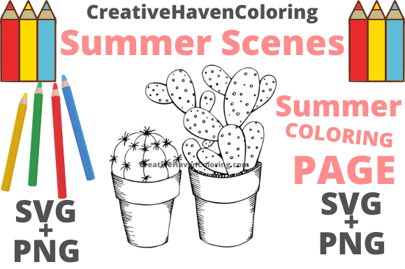 Print on Demand: Summer Coloring Page #16 Graphic Coloring Pages & Books Adults By creativehavencoloring