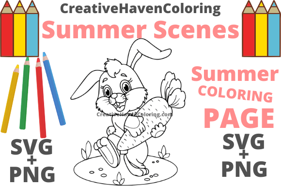 Print on Demand: Summer Coloring Page #3 Graphic Coloring Pages & Books Adults By creativehavencoloring