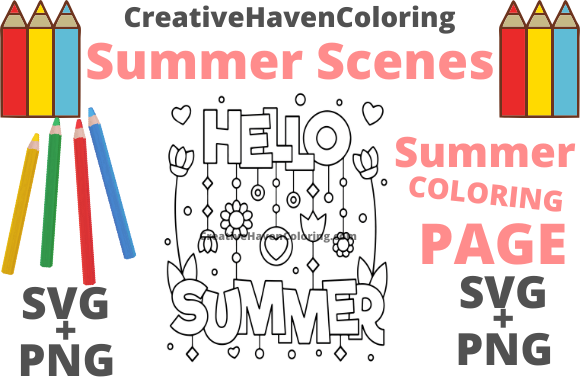 Print on Demand: Summer Coloring Page #4 Graphic Coloring Pages & Books Adults By creativehavencoloring