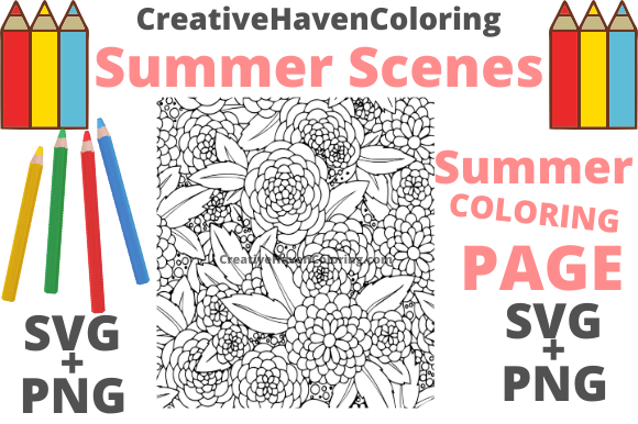 Print on Demand: Summer Coloring Page #8 Graphic Coloring Pages & Books Adults By creativehavencoloring