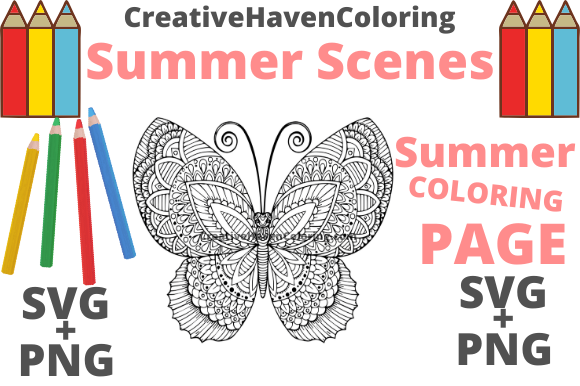 Download Free Summer Coloring Page 9 Graphic By Creativehavencoloring for Cricut Explore, Silhouette and other cutting machines.