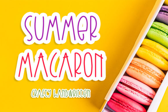 Print on Demand: Summer Macaron Script & Handwritten Font By Abodaniel
