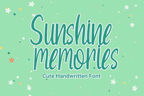 Print on Demand: Sunshine Memories Script & Handwritten Font By Rvandtype