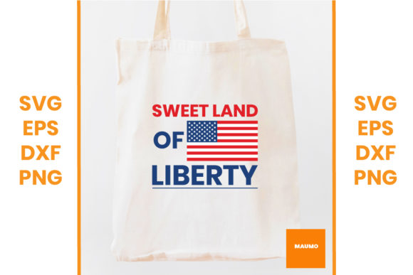Download Free Sweet Land Of Liberty 4th Of July Graphic By Maumo Designs for Cricut Explore, Silhouette and other cutting machines.