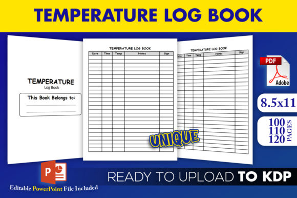 Print on Demand: Temperature Logbook Tracker KDP Interior Graphic KDP Interiors By Beast Designer