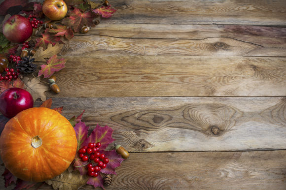 Print on Demand: Thanksgiving  or Fall Greeting Backgroun Graphic Holidays By TasiPas