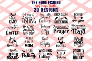 Download Free The Huge Fishing Bundle Graphic By Design Store Creative Fabrica for Cricut Explore, Silhouette and other cutting machines.