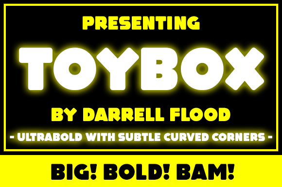 Print on Demand: Toybox Display Schriftarten von Dadiomouse