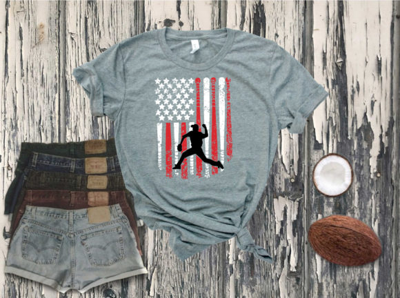 USA Baseball Flag Graphic Illustrations By Yayasvg