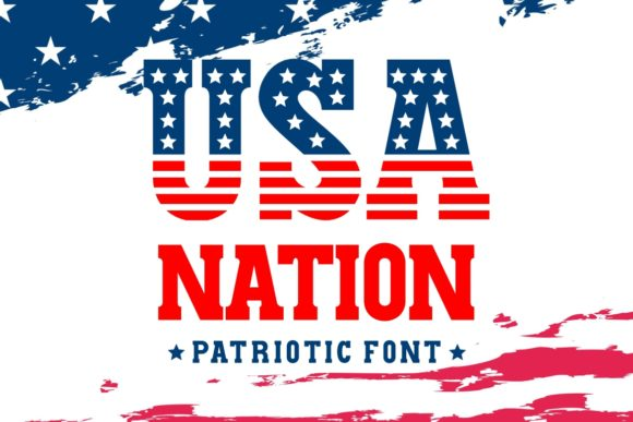 Print on Demand: USA Nation Display Schriftarten von HansCo