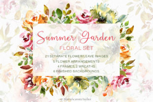 Print on Demand: Watercolor Flowers - Summer Garden Graphic Illustrations By MariaScaroniAtelier