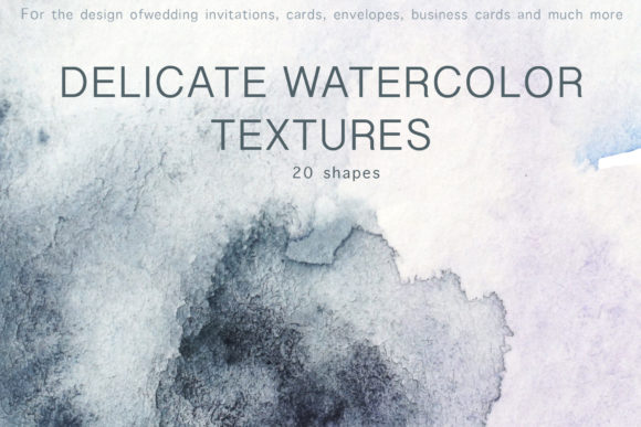 Watercolor Textures for Invitations Grafik Texturen von Vera Vero