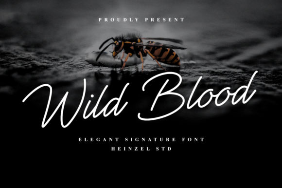 Print on Demand: Wild Blood Script & Handwritten Font By Heinzel Std