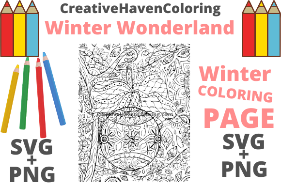 Print on Demand: Winter Wonderland Coloring Page #10 Graphic Coloring Pages & Books Adults By creativehavencoloring