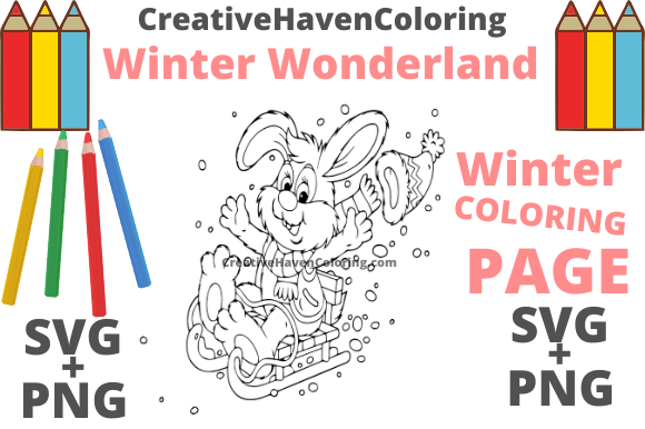 Print on Demand: Winter Wonderland Coloring Page #13 Graphic Coloring Pages & Books Adults By creativehavencoloring